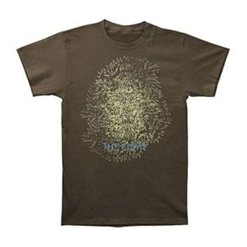 Faint Men's  Doodle T-shirt Brown Rockabilia
