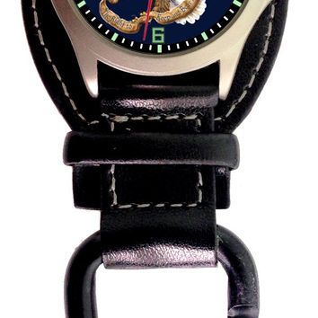 "Aqua Force Analog ""We the People, Right to Bear Arms"" Carabiner Watch  w/ Optional Strap (30M water resistant)"