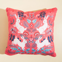 From Hare to Eternity Pillow | Mod Retro Vintage Decor Accessories | ModCloth.com