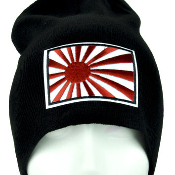 Japan Flag Rising Sun Beanie Anime Clothing Knit Cap