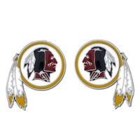 Washington Redskins Logo Stud Earrings