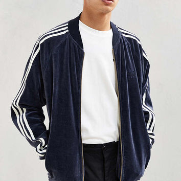 adidas Velour Track Jacket - Urban Outfitters