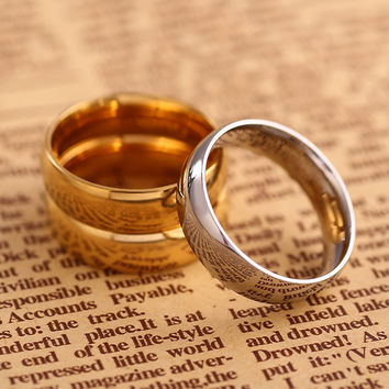 18k Gold Jewelry Ring for Men Silver Rings Wedding Bands Rings for Women lovers' Gift