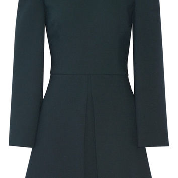 Pleated wool-blend mini dress | Dolce & Gabbana | US | THE OUTNET