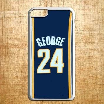 Adidas NBA Indiana Pacers 24 Paul George Jersey for iphone 4/4s/5/5s/5c/6/6+, Samsung
