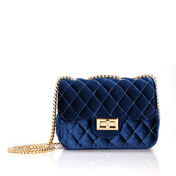 After Hours Velvet CrossBody - Royal