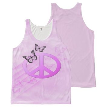Pink Peace All-Over Print Tank Top