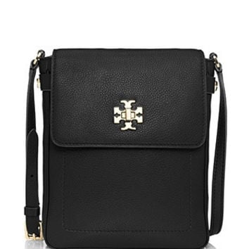 Tory Burch Mercer Leather Crossbody Book Bag