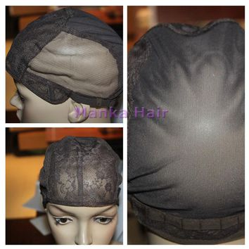 Free Shipping  Small/Medium/Large adjustable Wig Caps For Making Wigs 1pc Glueless Wig Caps high quality lace wig cap