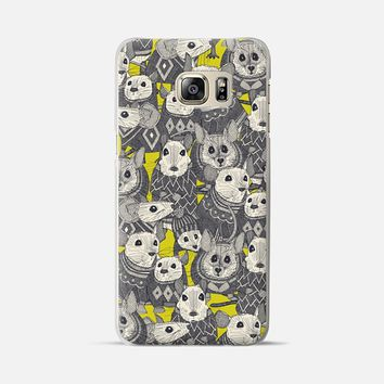 sweater mice chartreuse Samsung Galaxy Galaxy S6 Edge+ case by Sharon Turner   Casetify