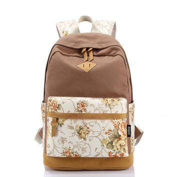 Leaper Casual Style Lightweight Canvas Laptop Backpack Cute Travel School College Shoulder Bag/Bookbag Day-First™
