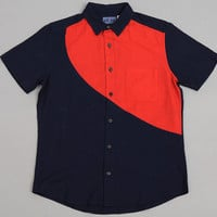 blue blue japan - cotton gauze big sun short sleeve shirt indigo   red