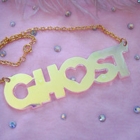 Radiant GHOST Acrylic Necklace