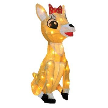 "18"" Rudolph the Red Nosed Reindeer Collection Clarice Christmas Yard Art Decoration - Clear Lights"