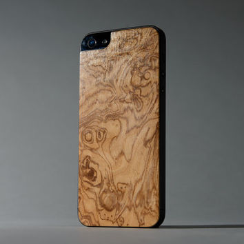 Olive Ash Burl iPhone 5/5s Real Wood Skin (Front & Back Cover) Made in the USA - FREE Shipping