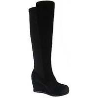 Kenneth Cole Reaction Stormhike Stretch Wedge Boots - Black