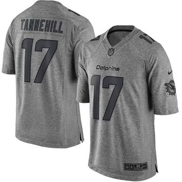 Men's Miami Dolphins Ryan Tannehill Nike Gray Gridiron Gray Limited Jersey