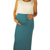 Maternity Maxi Dresses - Colorblock Your Calendar
