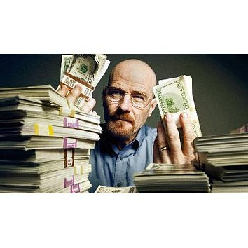 Breaking Bad Walter White Cash poster Metal Sign Wall Art 8in x 12in