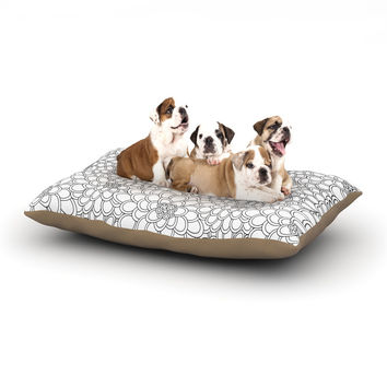 "Julia Grifol ""White Flowers"" Dog Bed"
