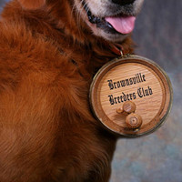 Dog Collar Personalized Wine Barrel