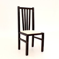 1/6 scale Chair for dolls (Blythe, Barbie, Bratz,  Momoko). Dark wood