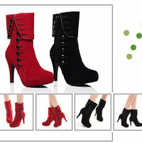 High Heels Platform Boots Ankle Shoes