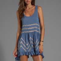 Free People Slip Voile Trapeze Dress in Blue Combo from REVOLVEclothing.com