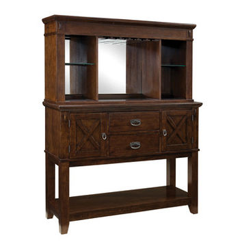 Standard Furniture Sonoma Sideboard w/ Hutch in Oak