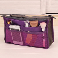 Novelty Double-Layer Organizer Bag Casual Travel Bag Multi-Munctional Storage Bag