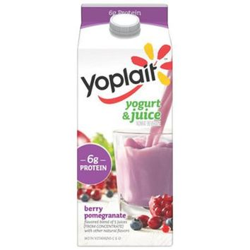 Yoplait Berry Pomegranate Yogurt & Juice Nonfat Beverage, 59 fl oz - Walmart.com
