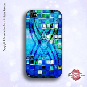 Tribal Blue Abstract - iPhone 4 Case, iPhone 4s Case and iPhone 5 case
