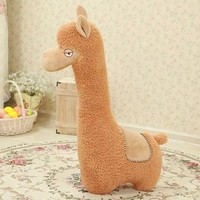 "47"" Big Size Alpaca Plush Toy Alpaca Soft Stuffed Pillow Gift"