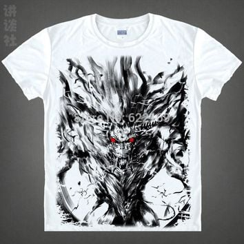 Coolprint Japanese Monster Hunter anime  Short-Sleeve t-shirt Zinogre cotton shirt Cosplay christmas halloween Costumes clothing