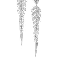 Stephen Webster - Magnipheasant 18-karat rhodium-plated white gold diamond earrings