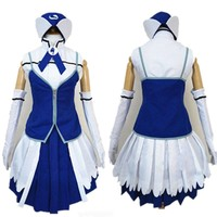 Anime Fairy Tail Juvia Lockser Cosplay Costume Outsite Free Shipping
