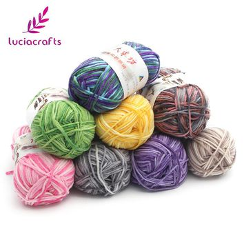 Lucia crafts 1piece/lot Knitting Yarn Wool Milk Cotton Woven Sweater Scarf Glove Hat DIY Garment Weaving Material 033005035