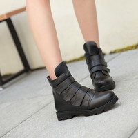 Velcro Ankle Boots Women Shoes Fall Winter 11191501