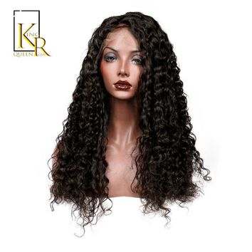 Lace Front Human Hair Wigs For Women Remy Brazilian Deep Wave Wig Bleached Knots Plucked With Baby Hair King Rosa Queen