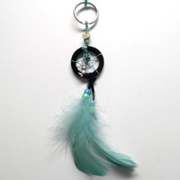 Mermaid Dream Catcher keychain/ Free standard US shipping