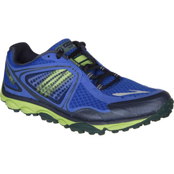 Brooks PureGrit 3 Trail Running Shoe - Men's Electric Blue/Greenery/Junebug,
