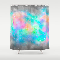 The Soul Becomes Dyed With the Colors of it's Thoughts (Galactic Watercolors) Shower Curtain by soaring anchor designs ⚓ | Society6