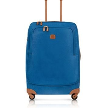 Bric's Designer Travel Bags Life Bluette Micro Suede Large Trolley