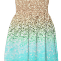 GATSBY CORAL OMBRE OCEAN created by Monika Strigel | Print All Over Me