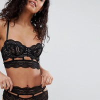 ASOS DESIGN Violet geo lace underwire bra at asos.com