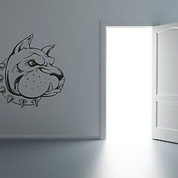 Angry Bulldog Face Wall Art Sticker Decal R019