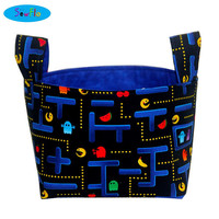 NEW! Desk Organizer-Storage Basket-Fabric Bin-Storage Bin-Video Game Bin-Pac Man Bin-Bedroom Storage