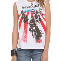 Sons Of Anarchy Bikers Muscle Girls Top