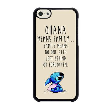 STITCH LILLO OHANA FAMILY QUOTES iPhone 5C Case Cover