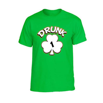 st Patrick's Day Shirt Unisex Tee Shirt Drunk Shamrock 1 2 3 4 5 6 Cool Drunk Green Irish Tee Shirt